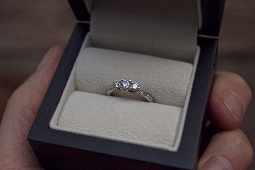 Moira Patience Fine Jewellery Bespoke Commission Twisted Diamond Engagement Ring
