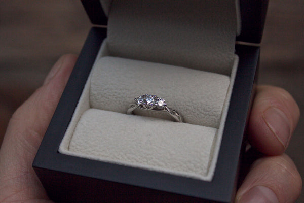 Twisted Trilogy Diamond Engagement Ring