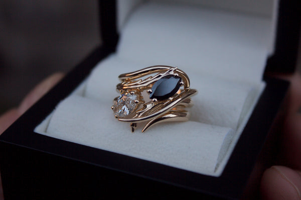 Black & White Diamond Trilogy Ring