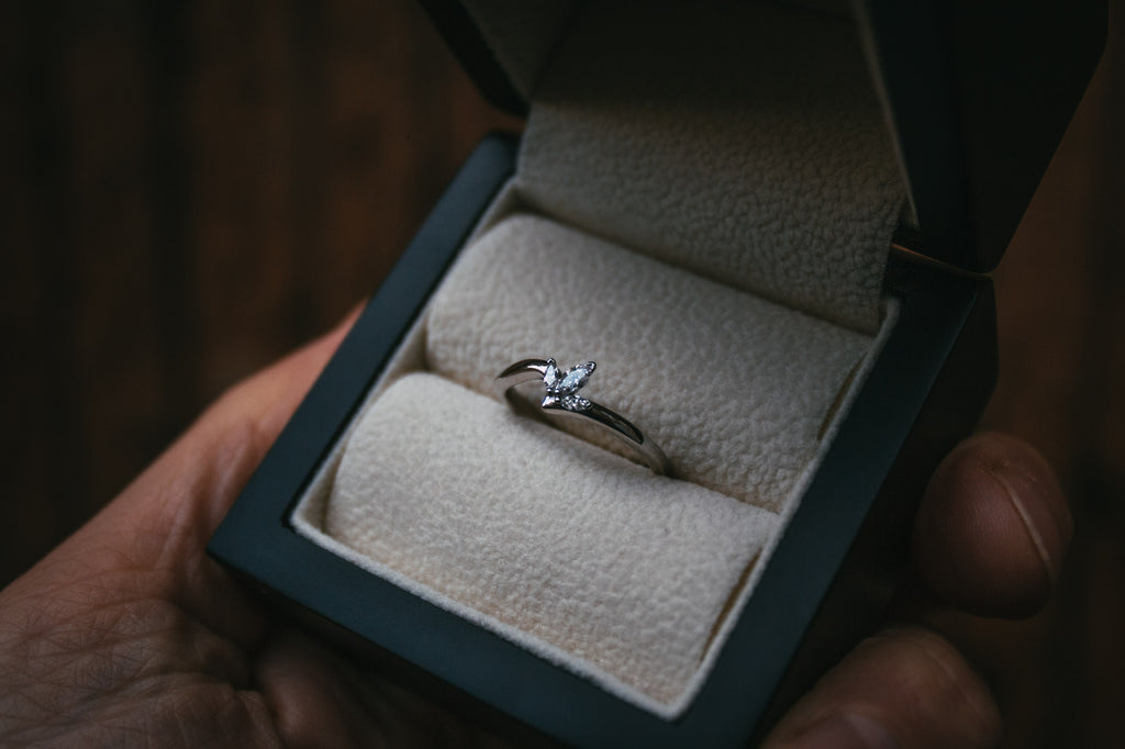 Bespoke Commission Fitted Petal Diamond Wedding Ring