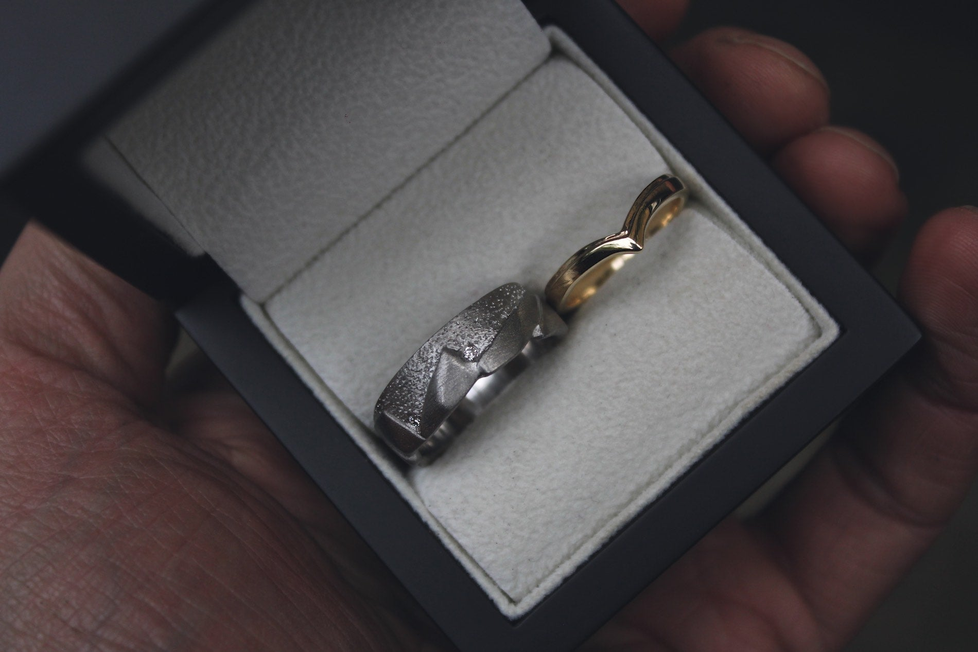 Hand-Carved Precious Wedding Rings