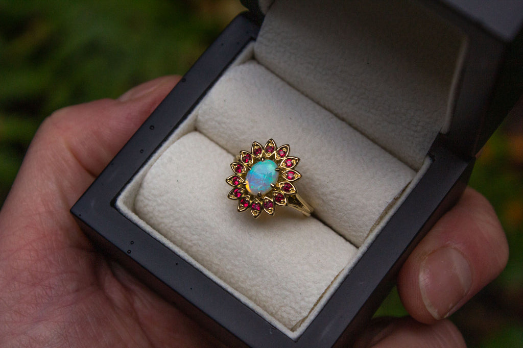 Bespoke Opal and Spinel cocktail ring