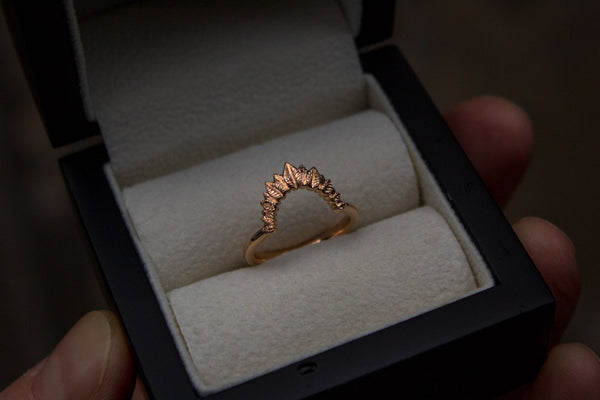 Organic Rose Gold Wedding Ring