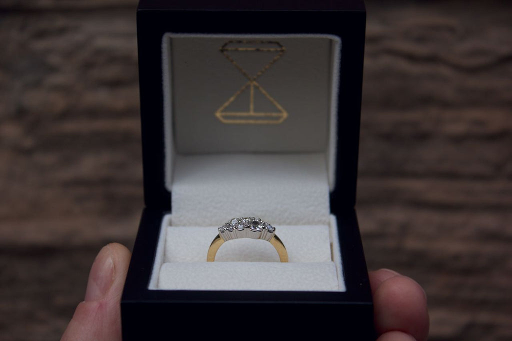 Moira Patience Fine Jewellery Bespoke Remodelled Diamond Cluster Ring in Edinburgh