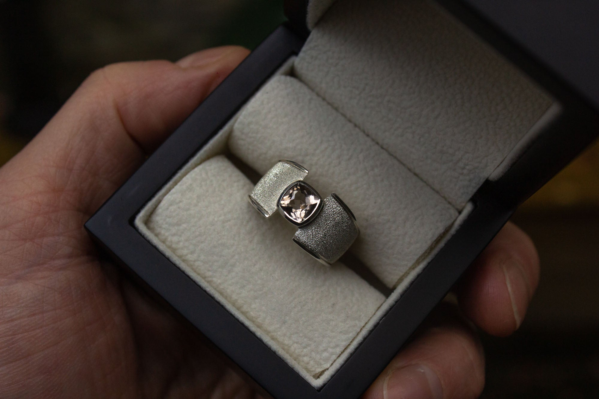 Bespoke Scottish Cairngorm Quartz Ring