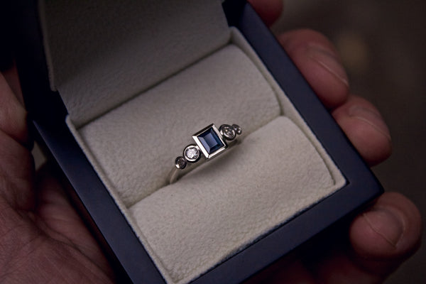 Remodelled Sapphire and Diamond Ring