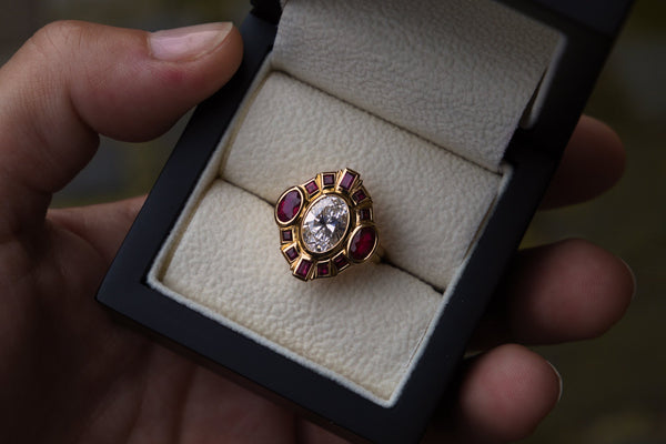 Remodelled Diamond & Ruby Ring