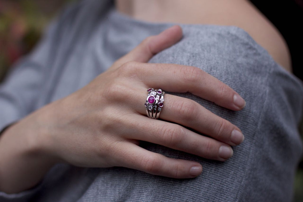 Patience Jewellery Bespoke Remodelling Star Ruby Diamond Ring