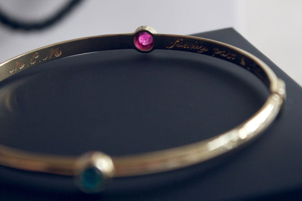moira-patience-fine-jewellery-bespoke-commission-gold-sapphire-bangle-in-Edinburg