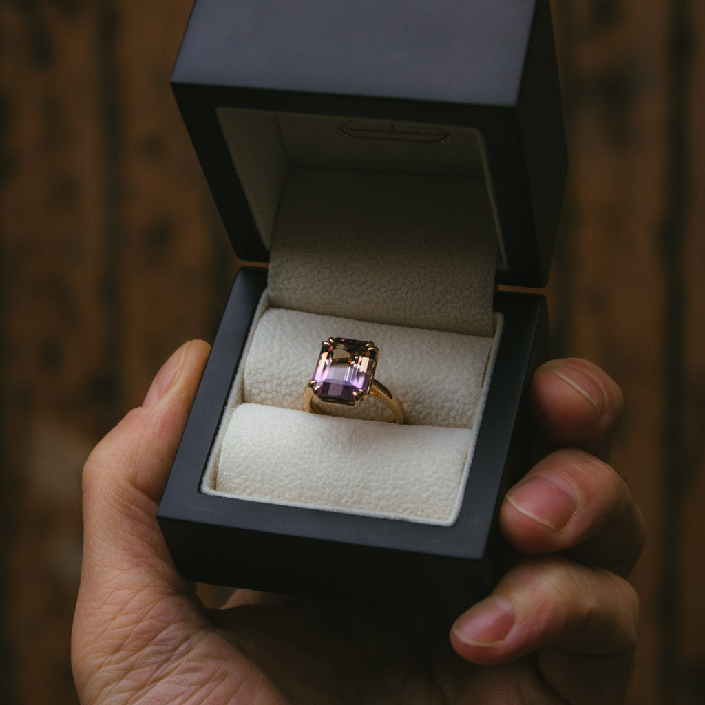 Moira Patience Fine Jewellery Bespoke Commission Ametrine Ring