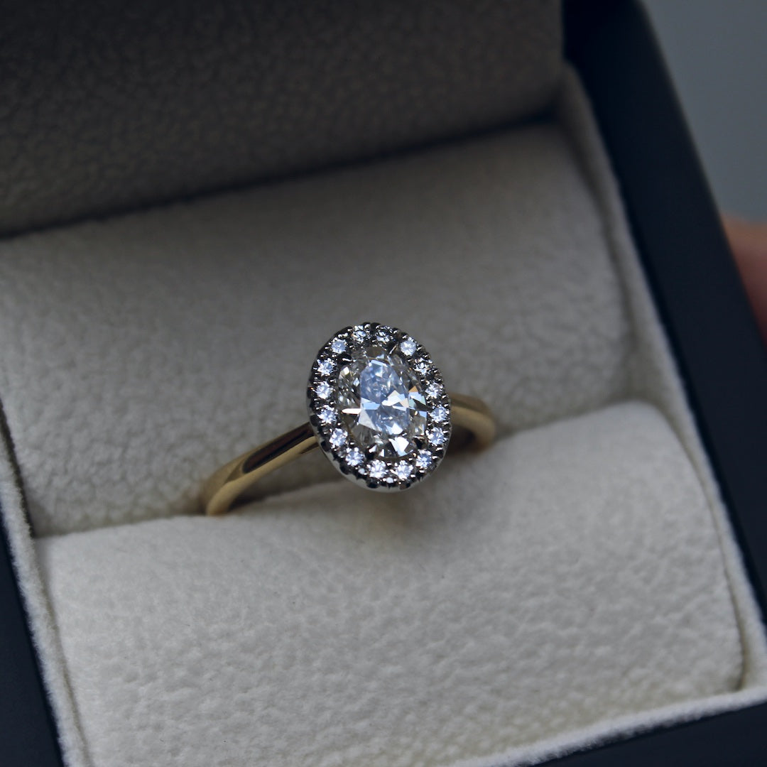 Moira Patience Fine Jewellery Bespoke Commission Canadian Oval Diamond Engagement Ring in Edinburgh 5