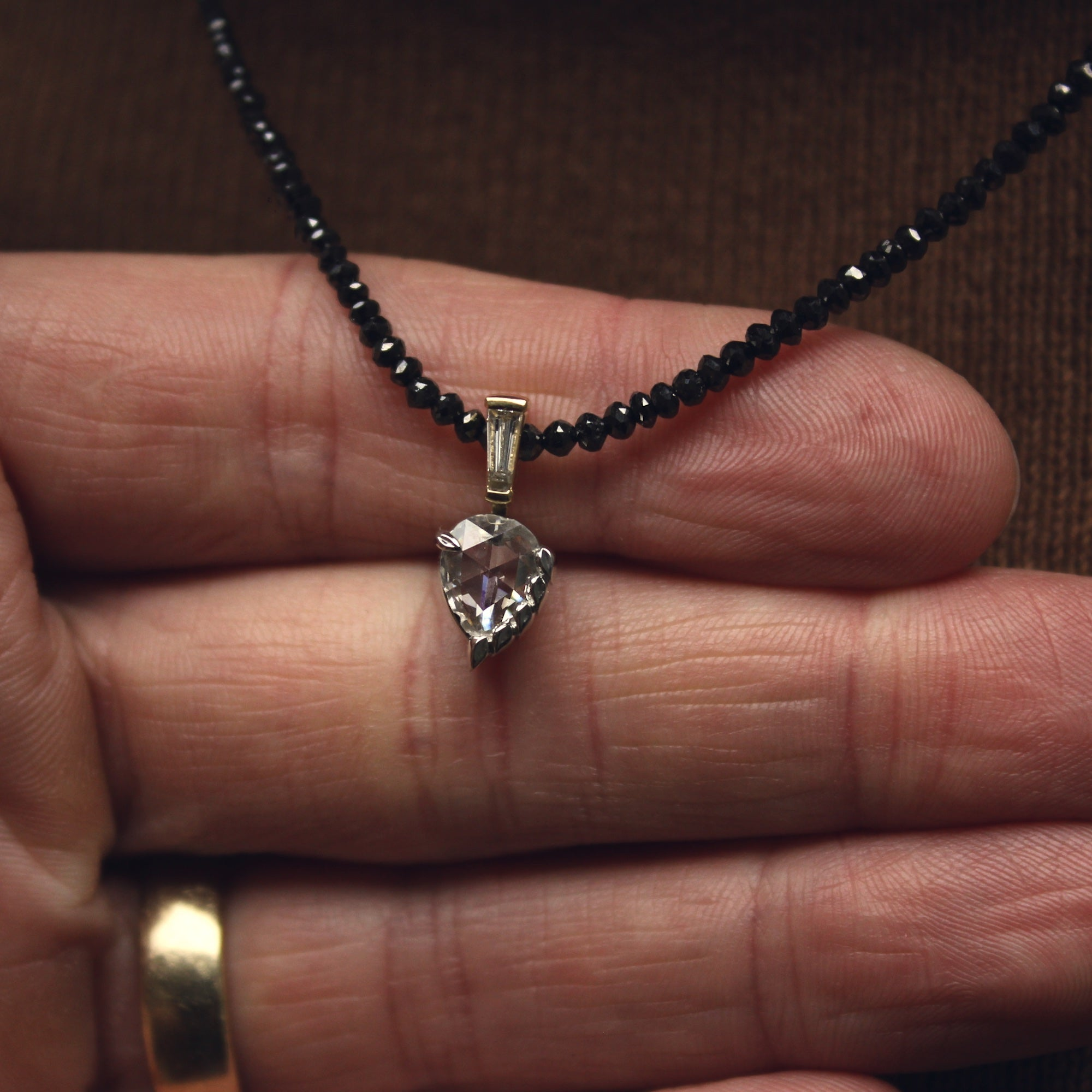Moira Patience Fine Jewellery Bespoke Commission Diamond Pendant in Edinburgh