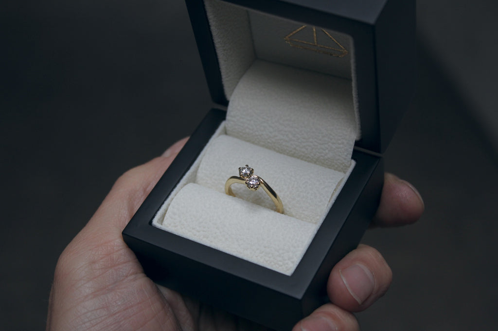 Moira Patience Fine Jewellery Bespoke Commission Fair Trade Gold and Ethical Canadian Diamond Engagement Ring Edinburgh