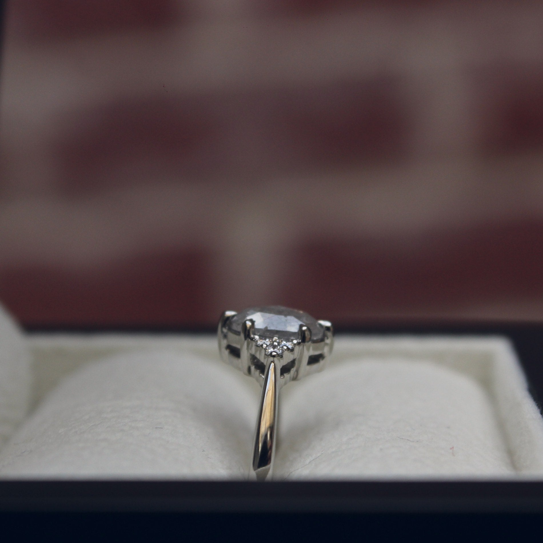 Moira Patience Fine Jewellery Bespoke Commission Grey Diamond Engagement Ring Edinburgh