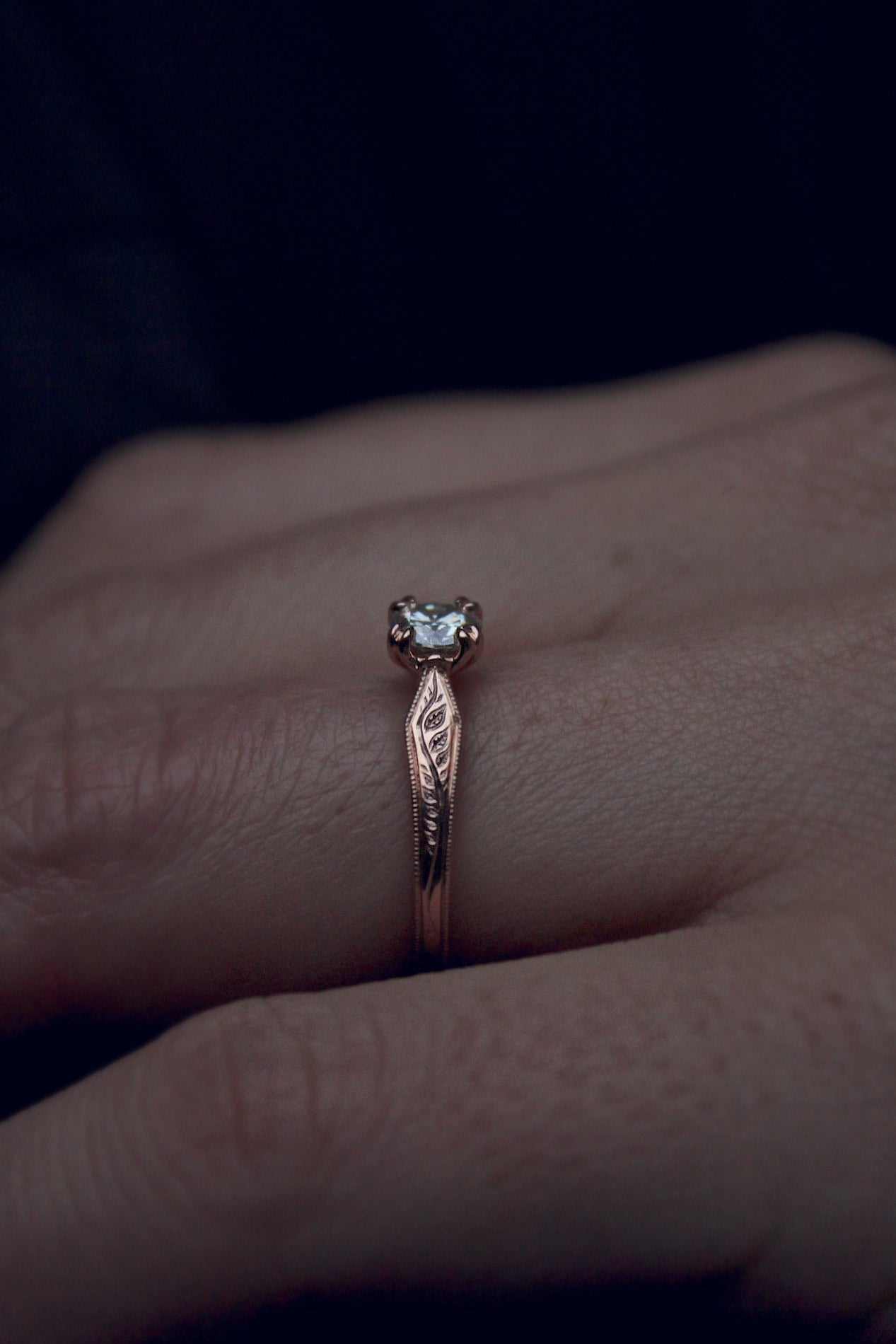 Rose Gold Moissanite Ring – Moira Patience Fine Jewellery