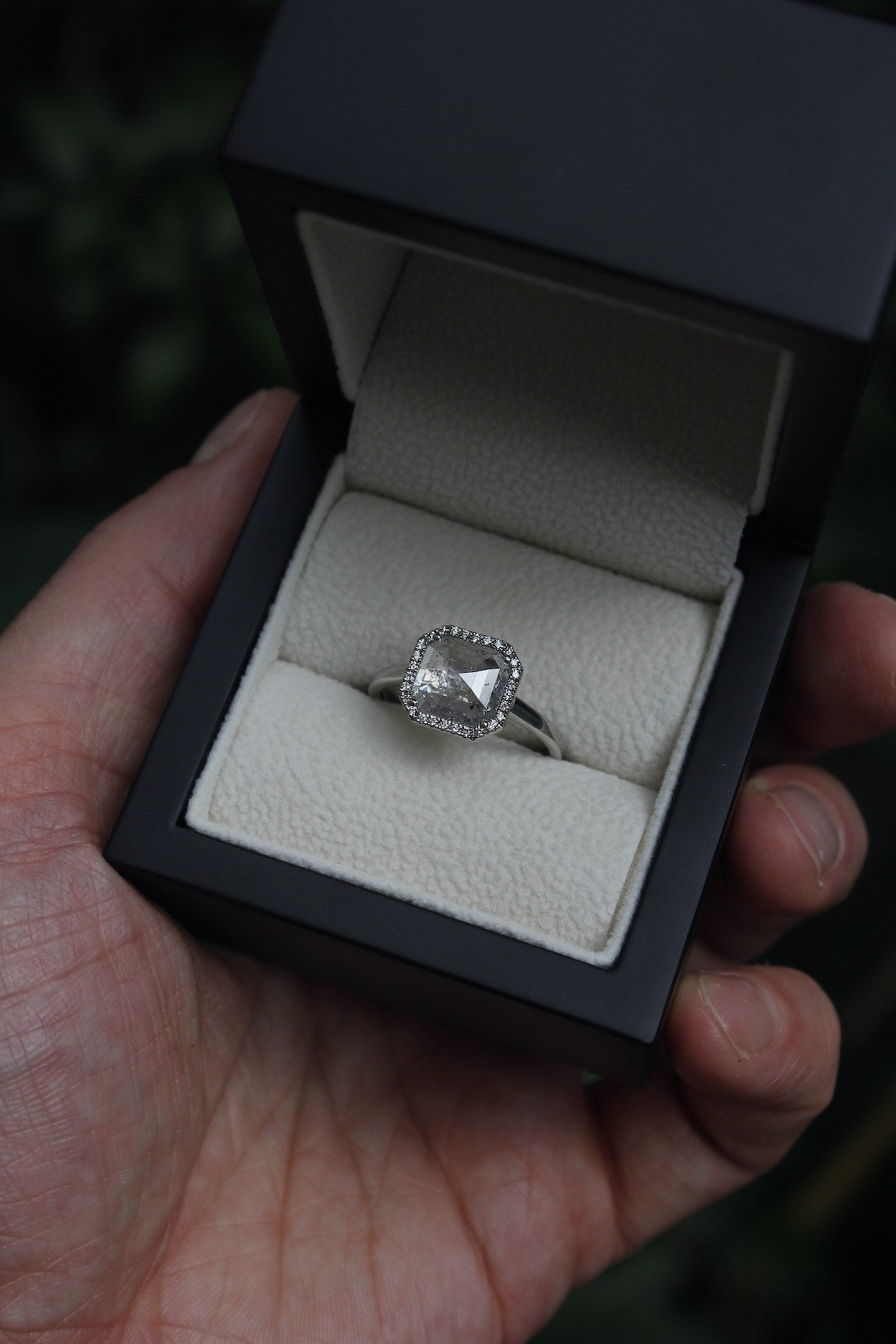 Moira Patience Fine Jewellery Bespoke Commission Platinum Ice Diamond Engagement Ring Edinburgh