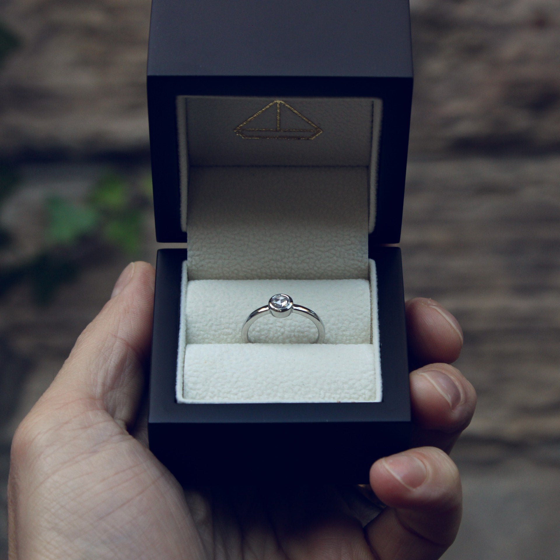 Moira Patience Fine Jewellery Bespoke Commission Rose Cut Diamond Engagement Ring in Edinburgh Scotland