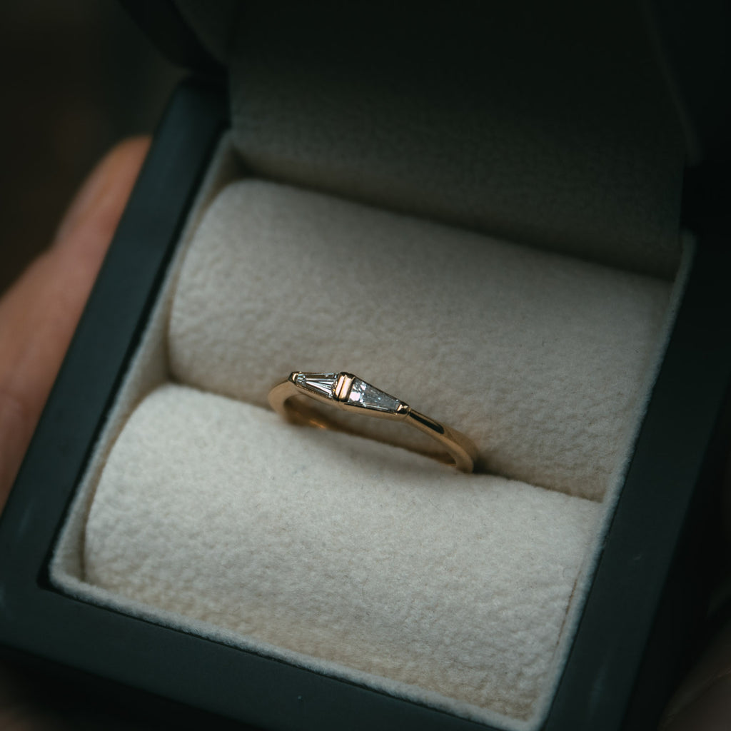 Bespoke diamond wedding ring