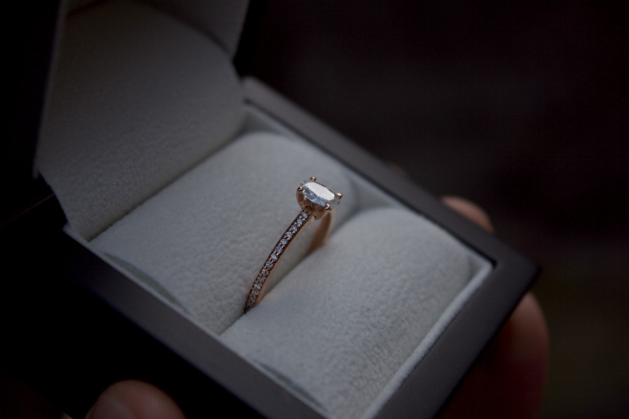 Moira Patience Fine Jewellery Bespoke Rose Gold Diamond Engagement Ring Edinburgh