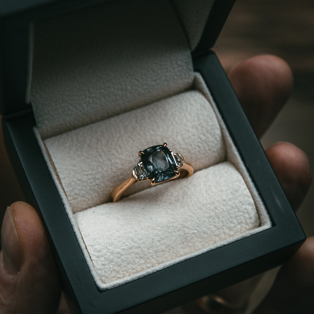Bespoke Spinel and Diamond Engagement Ring