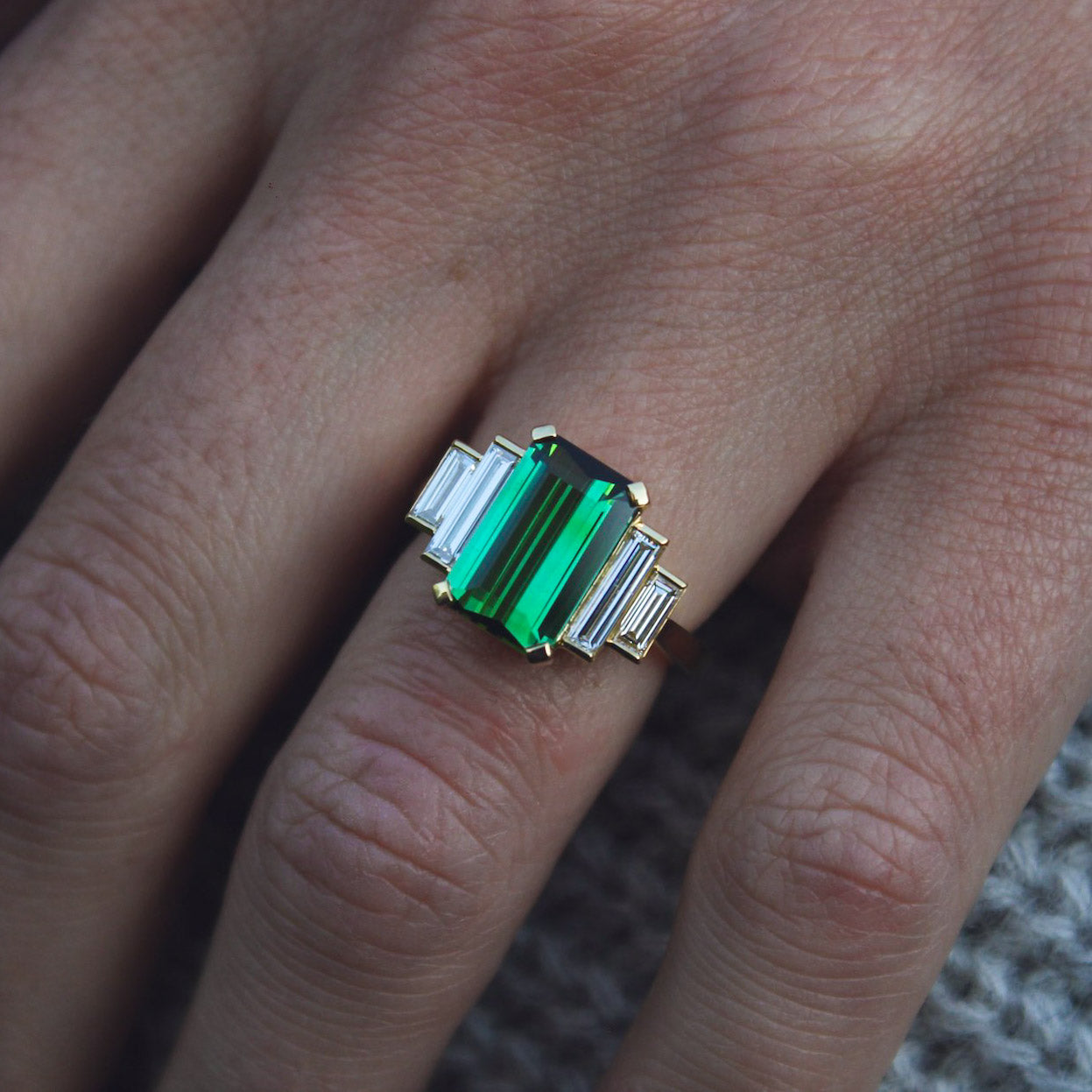Bespoke tourmaline ring