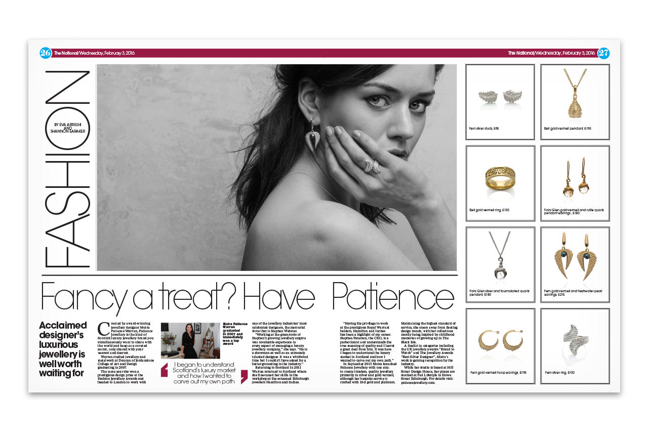 Patience Jewellery Press The National Fashion Article Moira Warren