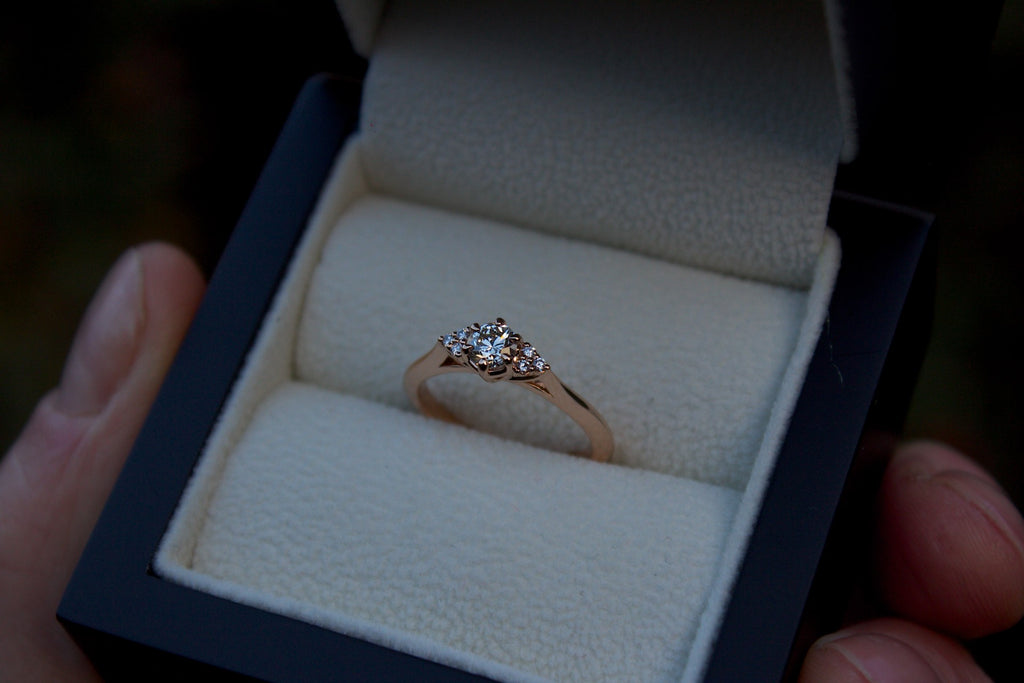Patience Jewellery Bespoke Rose Gold Diamond Engagement Ring