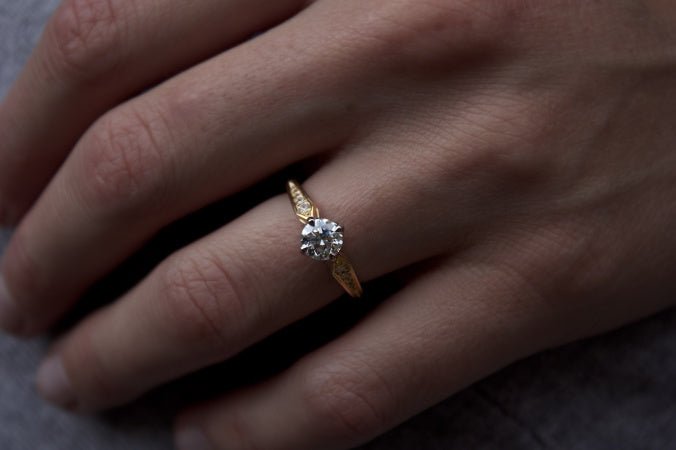 Patience Jewellery Bespoke Vintage Inspired Diamond Engagement Ring