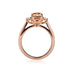 Morganite & Diamond Trilogy Ring in 18ct Rose Gold