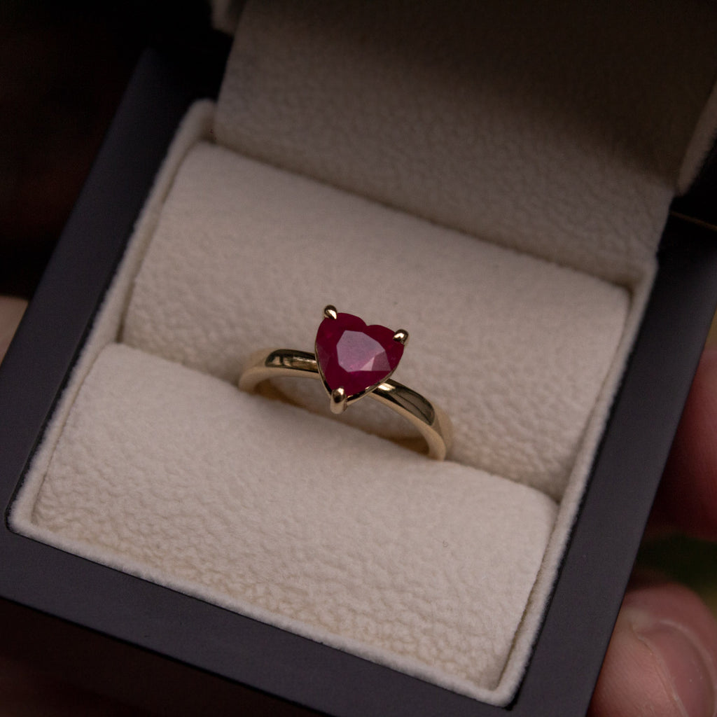 Heart-Shaped Ruby Ring