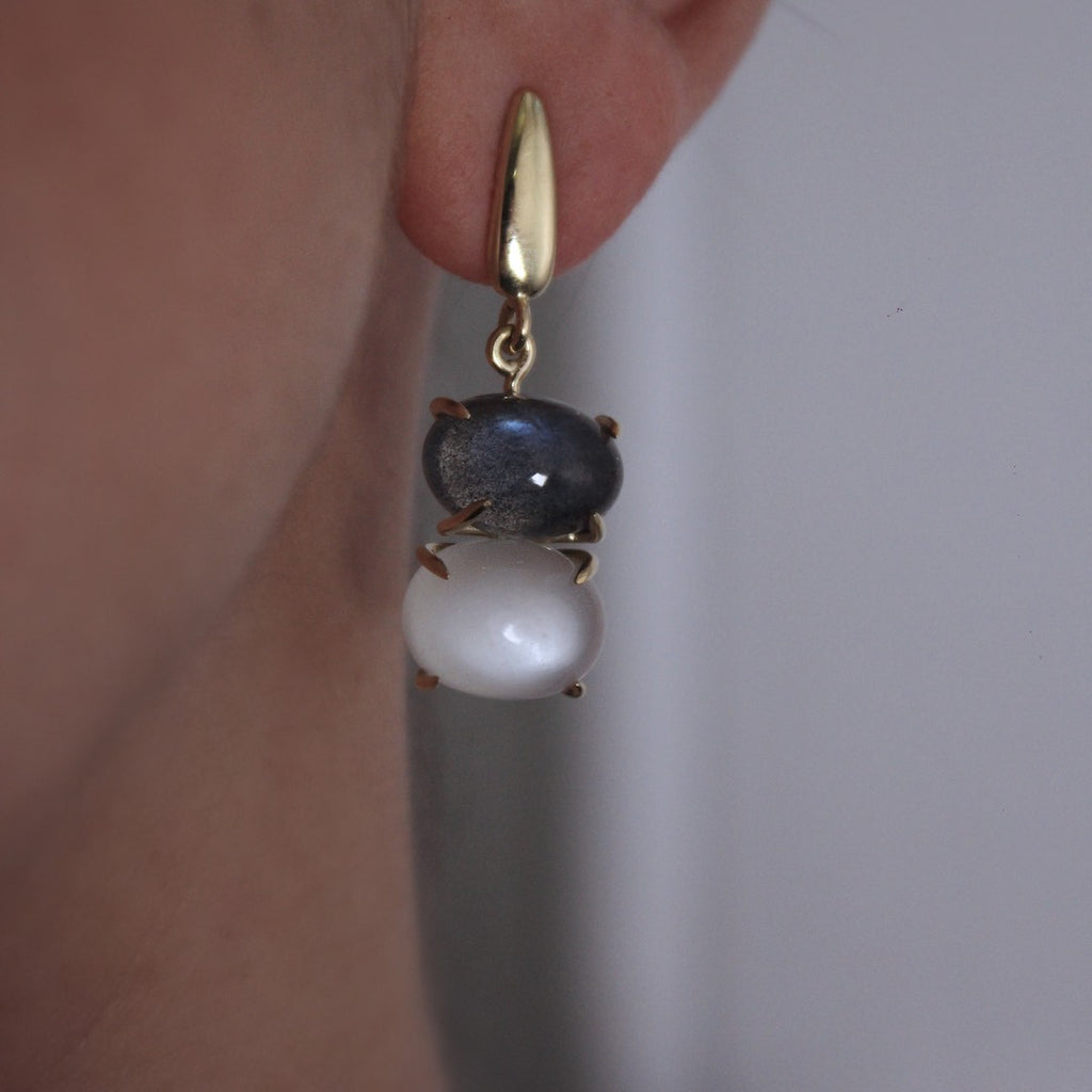 Moonstone & Labradorite Earrings