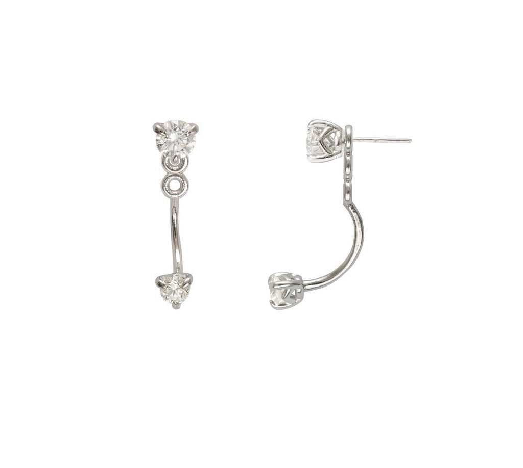 Supernova diamond ear jackets in White gold