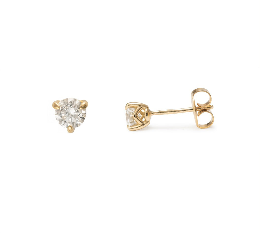 Moira Patience Fine Jewellery Supernova Diamond Studs in Yellow Gold