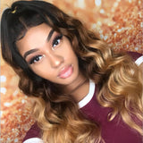 lumiere Peruvian Ombre Body Wave 3 Bundles with 4X4 Closure Human Hair Free Shipping