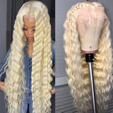 Glueless T Part Wig 613 Blonde Loose Deep Lace Wigs Pre Plucked With Baby Hair