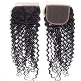 lumiere Hair One Piece Water Wave Virgin Human Hair 4x4 Lace Closure
