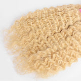 lumiere 613 Blonde Deep Wave  1 piece human hair with transparent lace