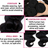 Lumiere peruvian Virgin Hair body Wave 2 Bundles With 360 Lace frontal