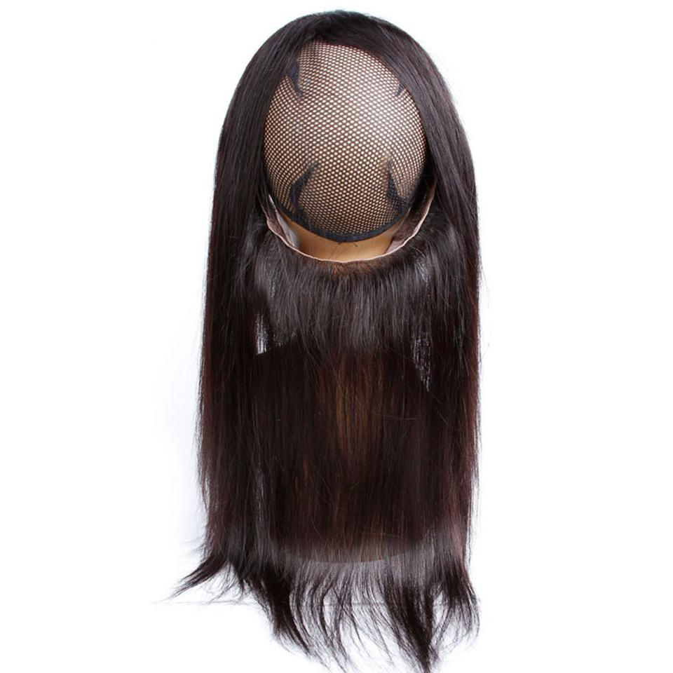 lumiere Hair Indian Straight Virgin Hair 3 Bundles with 360 Lace Front Closure Human Hair - lumiere Hair