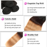 lumiere 1 Piece Ombre 1b/4/27 Color Straight Virgin Human Hair Extension
