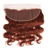 lumiere color #33 body wave 3 Bundles With 13x4 Lace Frontal Pre Colored Ear To Ear