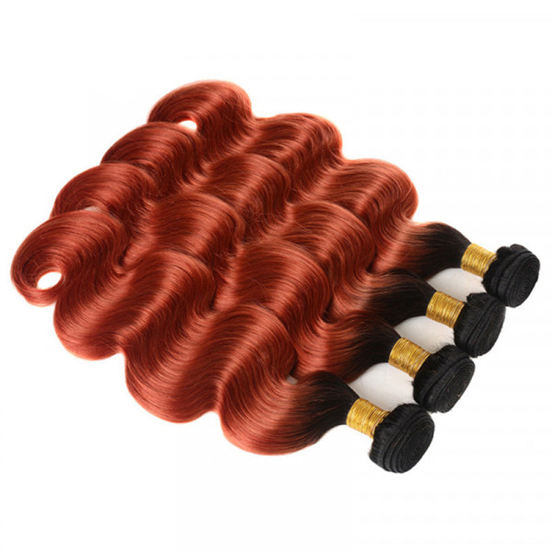 1B/350 4 Bundles Ombre Body Wave Virgin Human Hair Extension