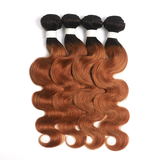 1B/30 Ombre Body Wave 4 Bundles With 4x4 Lace Closure Pre Colored human hair
