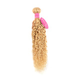 lumiere 613 Blonde Water Wave  1 piece human hair with transparent lace