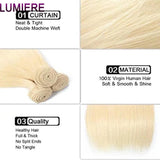 lumiere 613 Blonde Straight 3 Bundles with 13*4 Frontal Human Virgin Hair