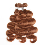 Color #30 body wave 3 Bundles 100% Virgin Human Hair Extension