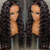 water wave Human Hair Wigs 4x4x1 T Part Lace closure Wig For Black Women Prelucked Hairline
