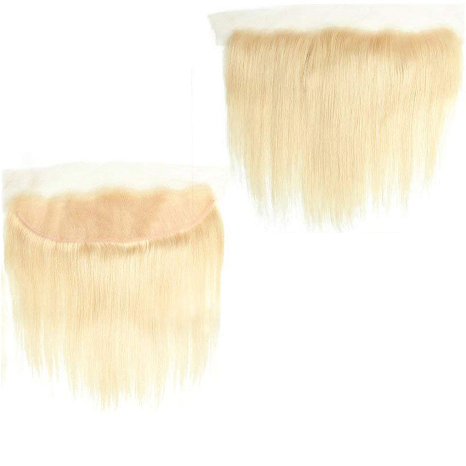 One Piece Blonde Color 613 Straight Hair 13*4 Frontal Virgin Human Hair