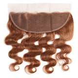 lumiere Color #30 body wave 4 Bundles With 13x4 Lace Frontal Pre Colored Ear To Ear