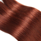 Color #33 Straight Hair Weave 4 Bundles 100% Virgin Human Hair Extension